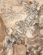 ABRAHAM BLOEMAERT, THE ANNUNCIATION, Pen and brown ink and wash, mounted on laid paper, 19.6 x 15.5 cm