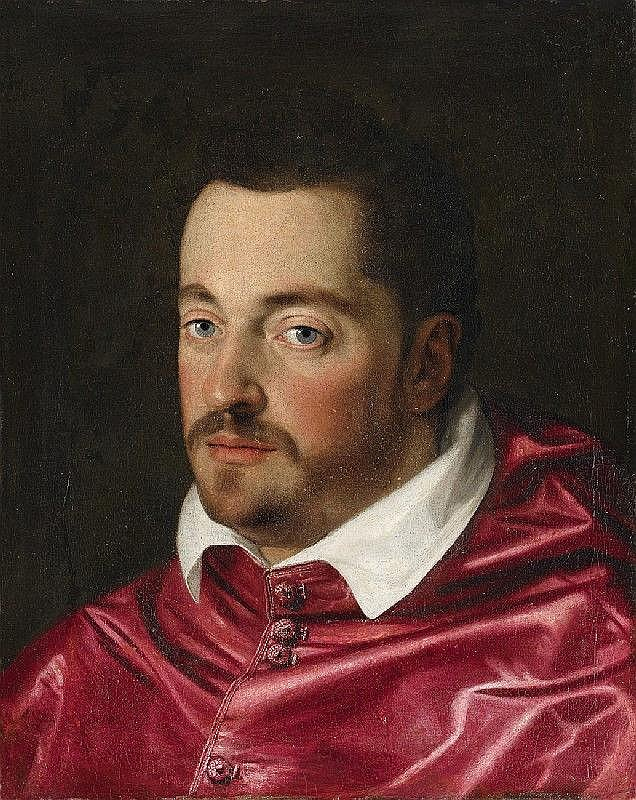SCIPIONE PULZONE, PORTRAIT OF FERDINANDO DE' MEDICI AS CARDINAL, oil on canvas (relined), 49 x 39 cm