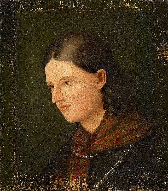 LUDWIG EMIL GRIMM, PORTAIT OF AMALIE HASSENPFLUG, oil on canvas, 42 x 37 cm