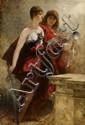 FERDINAND VON KELLER, STUDY FOR THE APOTHEOSIS OF EMPEROR WILHELM I, oil on canvas, 97.5 cm x 66 cm