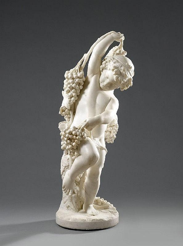 GIOVANNI DUPRÉ, THE INFANT DIONYSOS, Marble, Height 115 cm