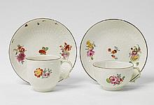 A KPM porcelain tea and coffee cup with deutsche