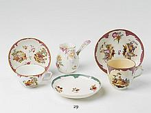 An assorted lot of early KPM porcelain crockery. H