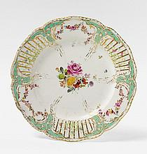 A KPM porcelain dinner plate from the 2nd Potsdam