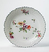 A large KPM porcelain platter made for Diede zu