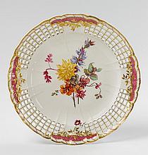 A KPM porcelain dessert plate for Frederick II.