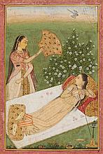 A Mughal style painting. 18th/19th century