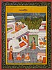 A provincial Bundi Barahmasa painting. Early 19th century
