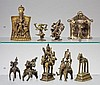 A group of four Indian brass objects. 20th century
