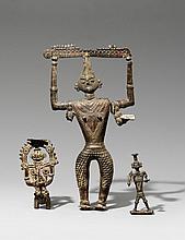 A group of three Bastar tribal deities. 20th century
