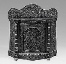 A Bombay blackwood cabinet. Ca. 1870