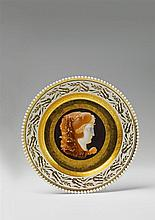A plate with cameo painting made for Princess Louise