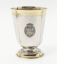 A Hermannstadt silver partially gilt beaker. Marks