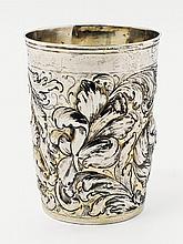 An Augsburg silver partially gilt beaker