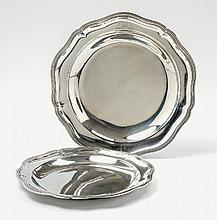 Two Paris silver platters. Marks of Jean-Louis