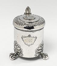 A silver lidded tankard monogrammed