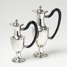 A pair of Augsburg silver partially gilt wine