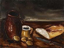 Maurice de Vlaminck, Nature Morte au pain, Circa 1941/1942