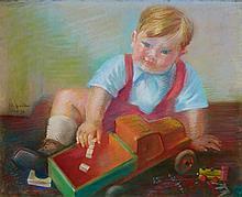 Conrad Felixmüller, Andreas Keutel (Der Knabe mit dem Holzauto), 1949