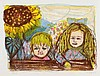 Otto Dix, Zwei Kinder (mit Sonnenblume), 1966, Otto Dix, €5,500