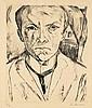 Max Beckmann, Selbstbildnis von vorn, im Hintergrund Hausgiebel, 1918, Max Beckmann, €12,500
