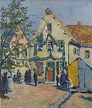 Richard Bloos, Kleinstadtszene, 1920