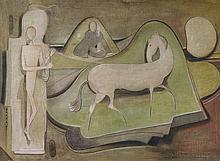 Ludwig Egidius Ronig, Pferd an Longe, 1950