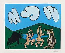 Pablo Picasso, Bacchanale au Taureau noir, 1959