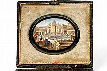 An Onyx and glass Roman souvenir micromosaic