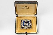 An important 14 ct gold, silver, enamel and