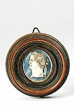 A framed Post-Antiquity shell cameo depicting the