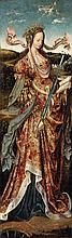 Cornelis Engebrechtsz, attributed to, Saint Barbara and Saint Catherine