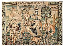 A wool and silk tapestry