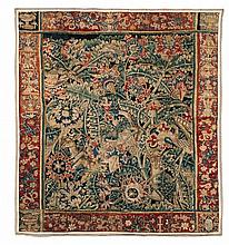 A wool and silk verdure tapestry