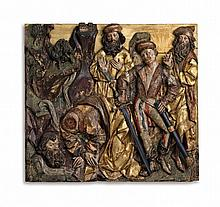 A relief showing the decapitation of Saint Kilian, circle of Veit Stoß, circa 1500/1510