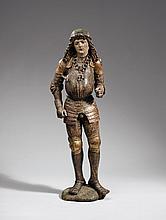 A Swabian figure of a holy knight, circa 1500