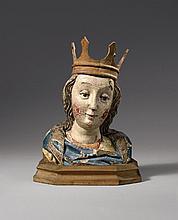 A South German bust of a female saint, circa 1480