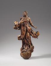 A South German figure of the Virgin of the immaculate conception, mid 18th century
