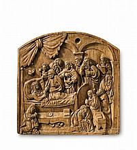 A Central German relief of the death of the Virgin, circa 1580