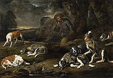 Jan Fyt, Landscape with Dogs and a Huntsman