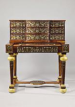 An opulent Vienna desk a trois corps