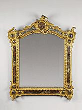 An important gilt softwood rococo frame a la façon de Venise