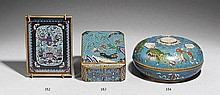 A small cloisonné enamel tray. Late 19th century
