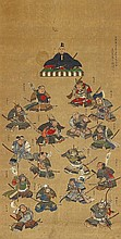 A hanging scroll in the manner of Takaku Aigai. Dated 1831