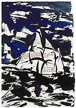Raymond Pettibon, Untitled (Set Sail: there's the new cathedral), 1999