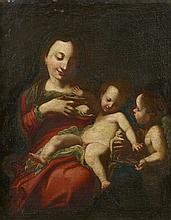 Italian School 17th century, The Madonna with the Christ Child and Saint John