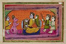 A group of twenty-two probably Kashmiri book illustrations. 19th century