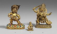 A Sinotibetan miniature bronze figure of a bodhisattva