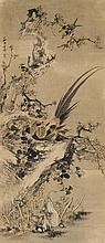 Pheasant. Hanging scroll. Ink on paper. Signed Xi Yuan Fang Ji, sealed Fang