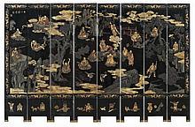 An eight-panel Coromandel screen. 18th/19th century